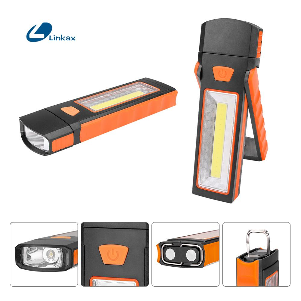 COB LED Work Light Inspection Lamp Hand Tool Garage Flashlight Torch Magnetic