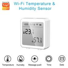 TUYA WIFI Thermometer LCD Digital Temperature Room Hygrometer Gauge Sensor Humidity Meter Indoor Thermometer Temperature Tools