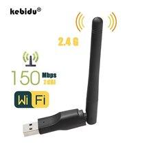 Kebidu USB 2,0 WiFi беспроводная сетевая карта 150M Mini Wi-Fi Dongle 802,11 b/g/n LAN адаптер с поворотная антенна для портативных ПК