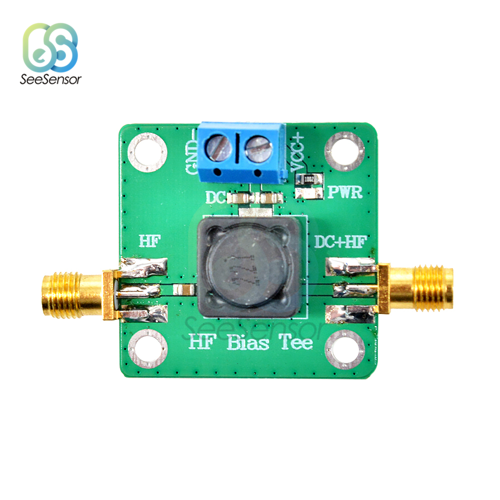 Camiseta de polarización HF 50 K-60 MHz RF microondas Dc alimentador para onda corta RTL SDR LNA HAM Radio amplificador antena