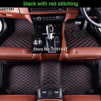CARFUNNY High-quality wear-resistant leather Right hand drive car floor mats for ToyotaFortuner4RunnerHiLuxSequoia