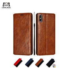 CHNCASE Magnetic Leather Flip Phone Case For iPhone X XSMAX XR  6 6s 7 8 Plus 11 Pro Skin Texture Wallet Cover Cases