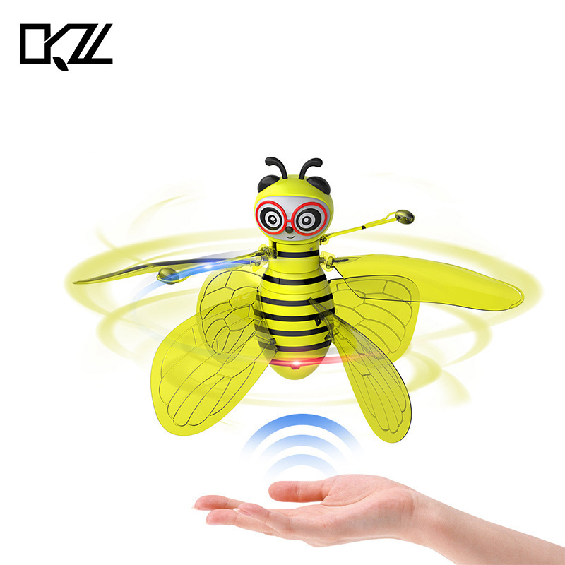 Explosion Model Children's Toy Small Bee Induction Aircraft Gesture Induction Flying Small Bee Suspension Aircraft Novelty Toys