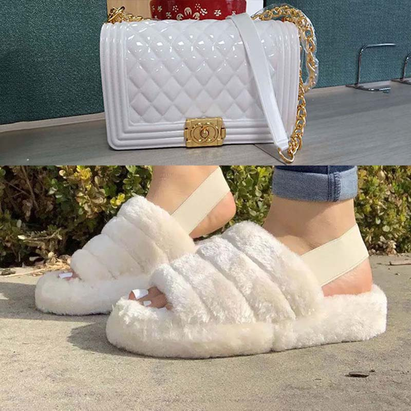 GW Ladies Women Square Handbags White Jelly Shoulde Bags For Women 2020 Fashion High Quality