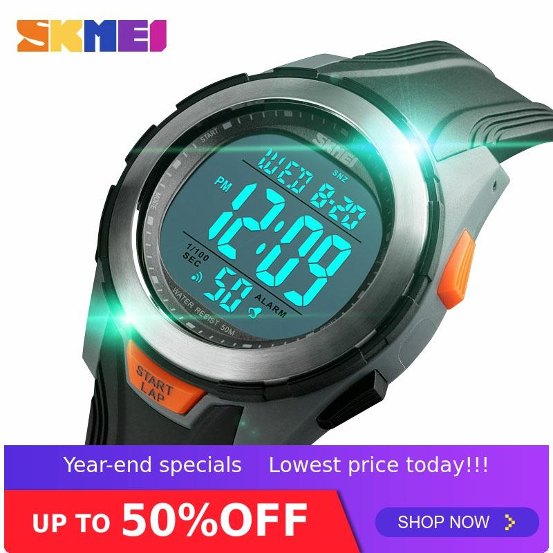 <font><b>SKMEI</b></font> Men Digital Watch Fashion Watches Multifunction 50M Waterproof Alarm Clock Stainless Steel Case Watch relogio digital <font><b>1503</b></font> image