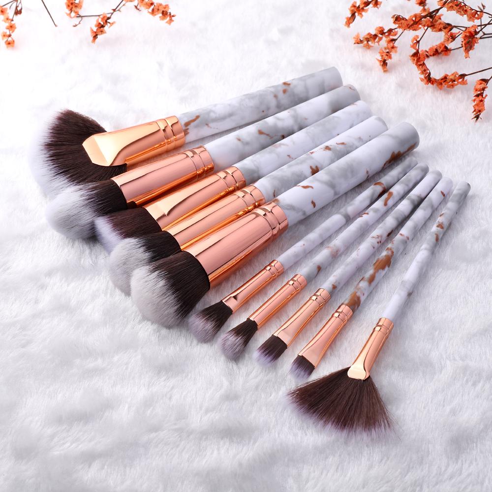 FLD 10/5Pcs Makeup Brushes Set Cosmetic Powder Eye Shadow Foundation Blush Blending Beauty Make Up of Brochas Maquillaje KIT