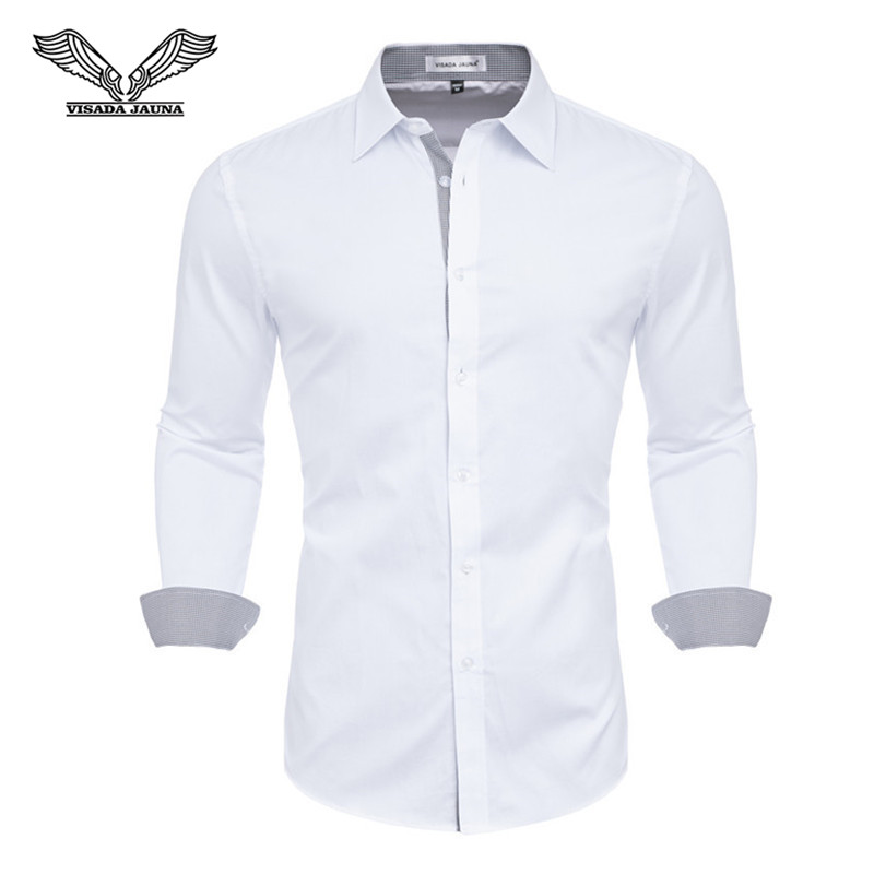 Mens Shirts Camisa Masculina Long Sleeve Shirt Men Korean Slim Design Formal Casual Male Dress Shirt Size M-4XL N5151