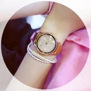 Image 3 - New Luxury Women Watches Austrian crystal Lady Dress Watch Stainless Steel Rhinestone Silver Gold Bracelet diamond Wristwatches