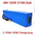 Bateria elétrica do triângulo da bicicleta de liitokala 48v 25ah 21700 5000 mah 13s5p 500 w bateria 48v25ah do trotinette bateria elétrica da bicicleta