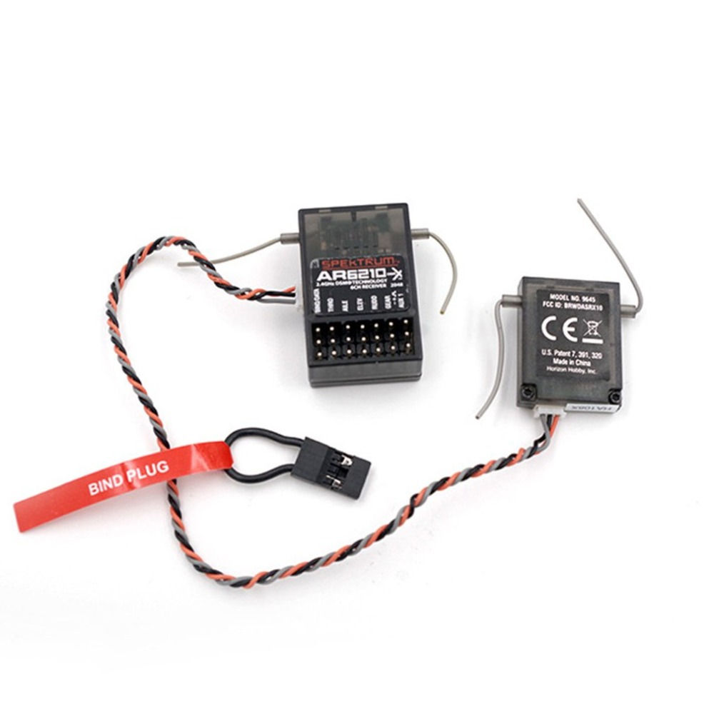 6 channel radio control AR6210 DSMX 6 Channel Receiver RX Support DSM2 for Spektrum Transmitter TX in Drone Accessories Kits from Consumer Electronics