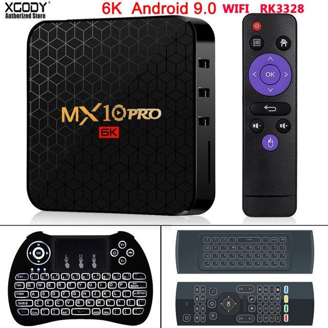 Xgody Nieuwste 6K Tv Box Android 9.0 Pro Allwinner H6 Quad Core 4 Gb 32 Gb 64 Gb Hd media Player 2.4G Wifi Smart Set Top Box
