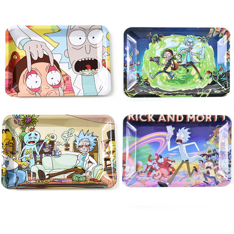 180*125 mm Cigarette Rolling Tray Tin Dish Smoking Accessories   Rolling Machine Cartoon Weed Rolling Tools DIY Cigarette Access|Cigarette Accessories|   - AliExpress
