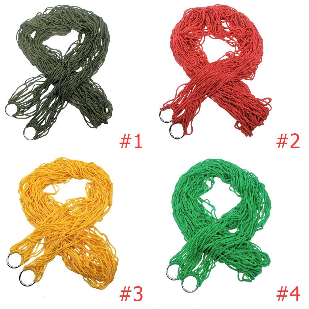 Hammock Ropes Furniture-Supplies Mesh Travel Hiking Leisure Nylon Outdoor Portable Single-Person