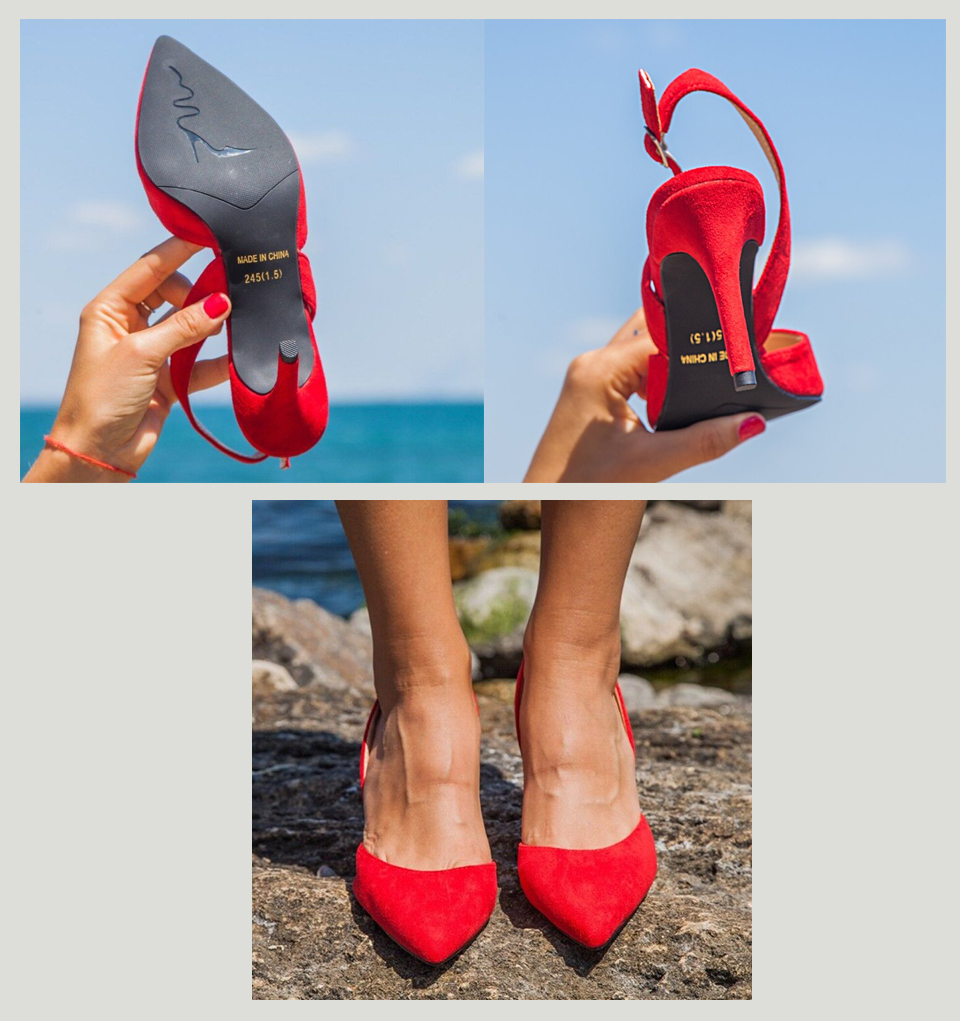He480c69d7a9d4bb1b464bbb7335ff9605 Women Sandals High Heels Summer Brand Woman Pumps Thin Heels Party Shoes Pointed Toe Slip On Office Ladie Dress Shoe Plus SizeDE