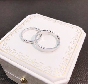 Image 5 - S925 스털링 실버 925 오리지널 럭셔리 오픈 엔드 링 Resizable Forever & Love you Charm 커플 링 Simple Fine Jewelry
