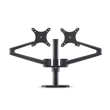 LARICARE Full Motion Dual Monitor Desk Mount Stand With VESA Part Rotatable and Height Adjustable(China)