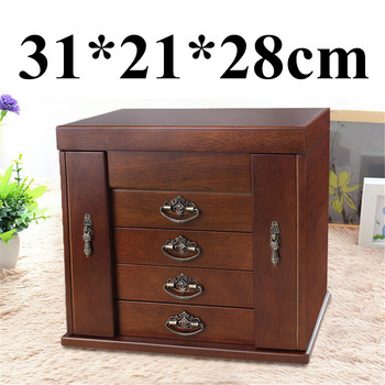 Large Retro Wooden Jewelry Box
