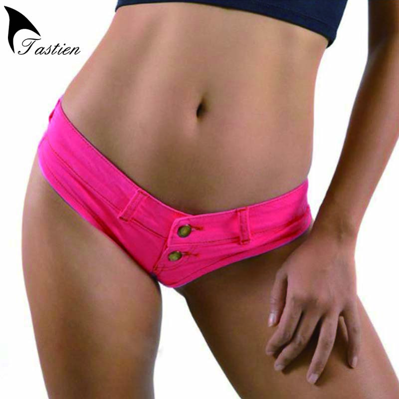 2020 New Fashion Sexy Women Shorts Summer Denim Cotton Shorts Low Waist Stretch Mini Super Bikini Jeans Shorts Clubwear 5 Colors