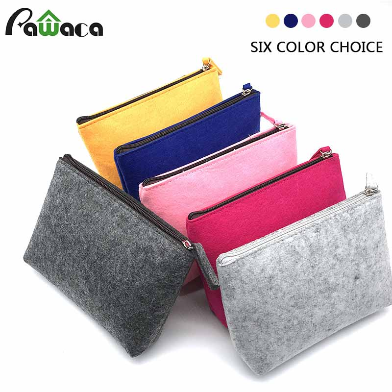 Electronics Accessories Organizer Bag Felt Cable Storage Organizer Bag Multifunctional Travel Cosmetic Inner Bag Pen Pencil Bag