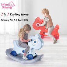 Toys Rocking-Horse-Toys Rideable Infant Anti-Slip Shining Dual-Purpose 2-In-1 1-6-Years-Old