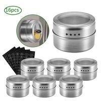 Pot à épices magnétique en acier inoxydable 1