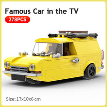 Carro famoso na tv apenas tolos e cavalos blocos de construção técnica dublê veículo modelo crianças diy tijolos brinquedos para crianças presentes natal