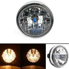 7 Inch 35W Universal Motorcycle Headlight Transparent Crystal Glass Clear Lens Beam Round LED HeadLamp For Honda CB series