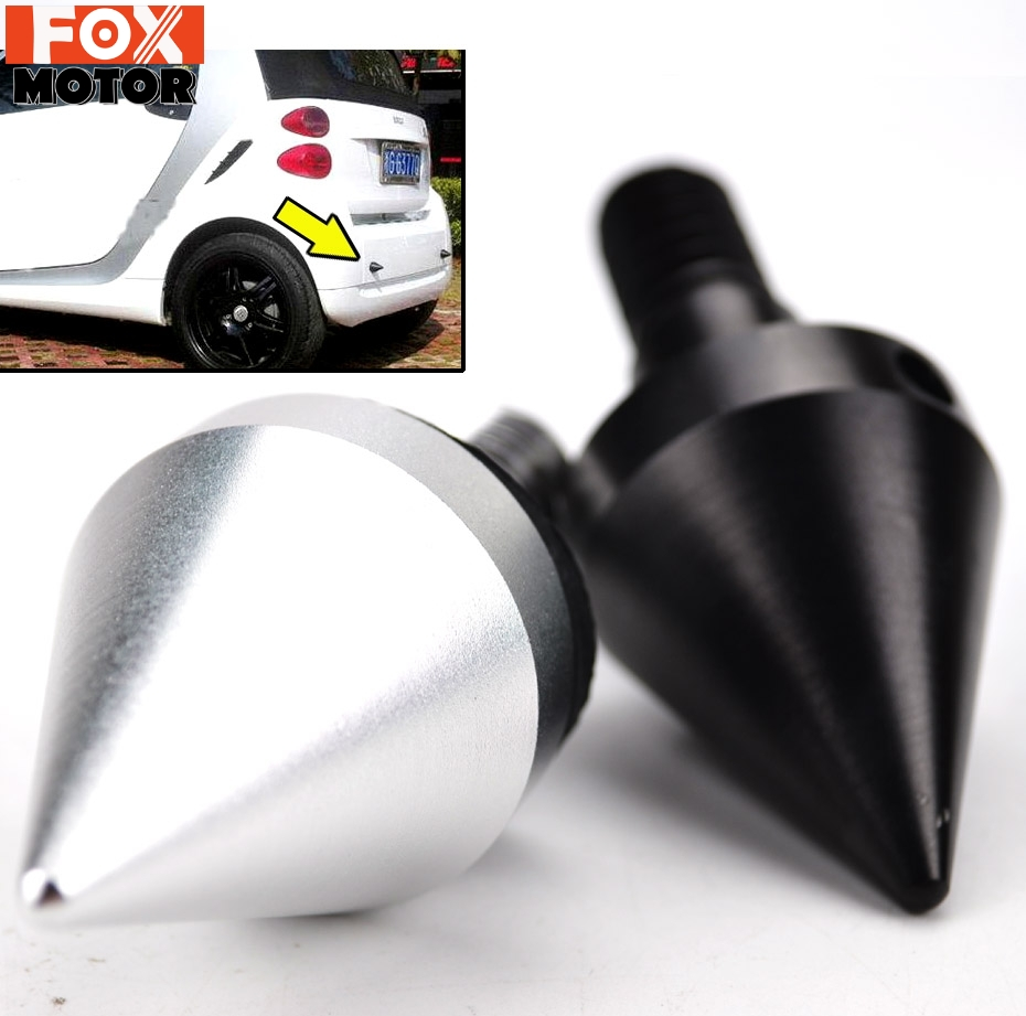 Car Aluminum Black Front or Rear Bumper Protector For Mercedes Benz Smart Fortwo