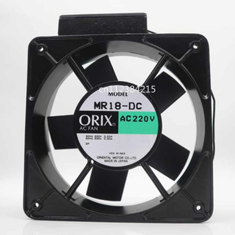 Free Shipping For ORIX MR18-DC Large Air Volume Cooling Fan AC200V 0.25/0.3A 180*180*65mm 2pin