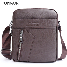 Fonmor Genuine Leather Cowhide Messenger Bag Men Cross Body Shoulder Business Zipper Bags For Man 2019 Male Casual Black Bags high quality men genuine leather shoulder bag first layer cowhide cross body designer male satchel business messenger bags new