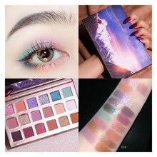 Matte Eye shadow 18 Colors Eyeshadow Platte Waterproof Pigment Cosmetic Eye Makeup недорого