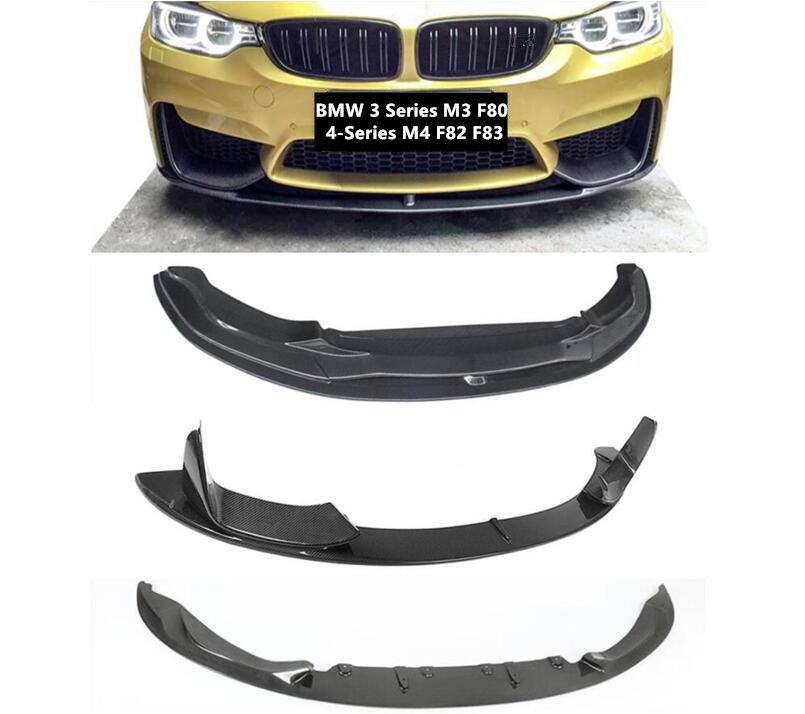 Front Lip Spoilers For BMW 3 Series M3 F80 4-Series M4 F82 F83 Bumper Diffuser Carbon Fiber Spoiler High Quality Accessories image