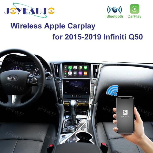 Joyeauto ไร้สาย Apple CarPlay สำหรับ Infiniti 8 นิ้ว 2015 2019 Q50 Q60 Q50L QX50 Android Auto Car Play วิดีโอ อินเทอร์เฟซ