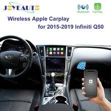 Joyeauto sem fio apple carplay para infiniti tela de 8 polegadas 2015 2019 q50 q60 q50l qx50 android auto carro jogar vídeo interface