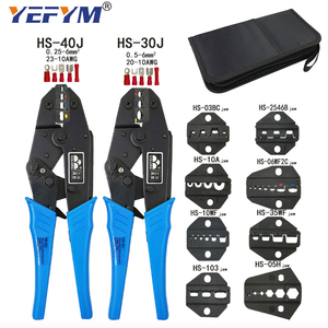HS-30J HS-40J Crimping Pliers Clamp Tools Cap/coaxial Cable Terminals Kit Multi Functional Brand Carbon Steel Multifunctional