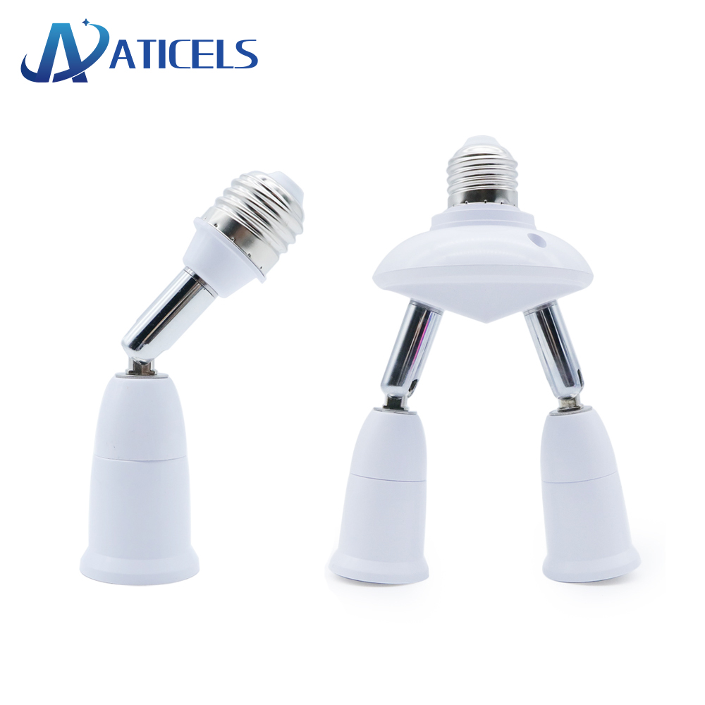 E27 Splitter 2/3/4/5 Heads Adjustable E27 To E27 Base LED Bulb Adapter Converter Lamp Holder Socket Splitter