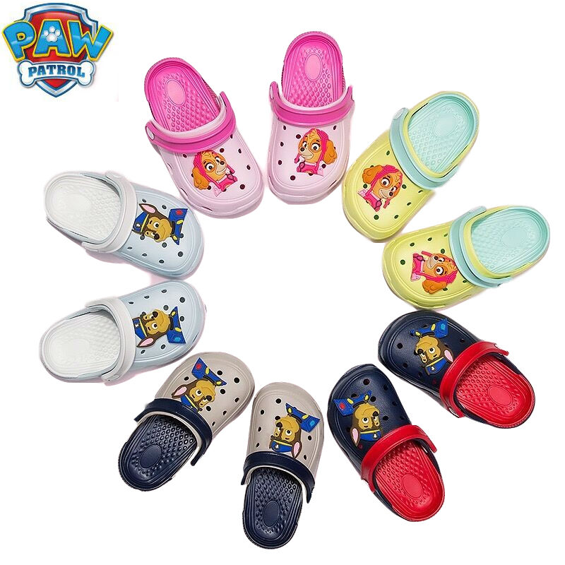 4 Kinds Original Paw Patrol Chase Marshall Rocky Everest Rubble Skye Zuma Action Figure Shoes Children Toy Slipper Birthday Gift