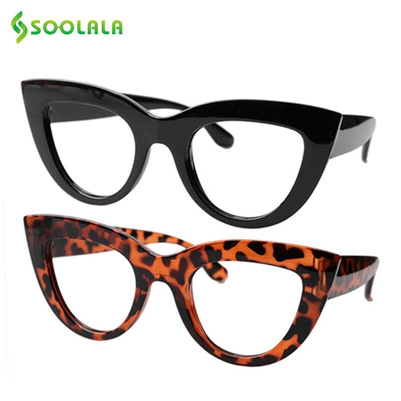 SOOLALA 2 uds Gafas de lectura tipo ojo de gato mujer 1,0, 1,25, 1,75, 2,0, 2,25 a 4,0 de la Presbicia Marco de Gafas al por mayor Gafas de Presbicia