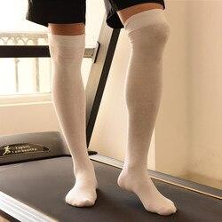 Зимние мужские спортивные теплые однотонные высокие длинные носки, мужские носки, мужские хлопковые уплотненные чулки с изображением теле...