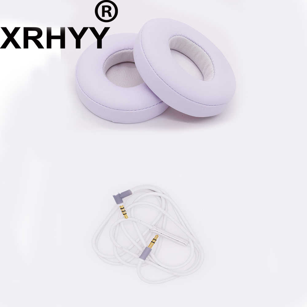Xrhyy White Replacement Earpads Cushions Cover Aux Audio Cable With Mic For Beats Solo 2 Wired On Ear Headphone Earpad Cushion Replacement Earpadsearpads Replacement Aliexpress