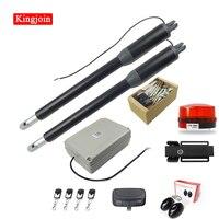 KINGJOIN single / two arm garage door opening system black aluminum automatic casement door opener motor kit for light doors