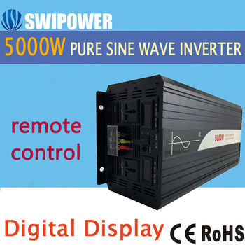 5000W (remote control) onda sinusoidale pura solar power inverter DC 12V 24V 48V a 110V AC 220V digitale display