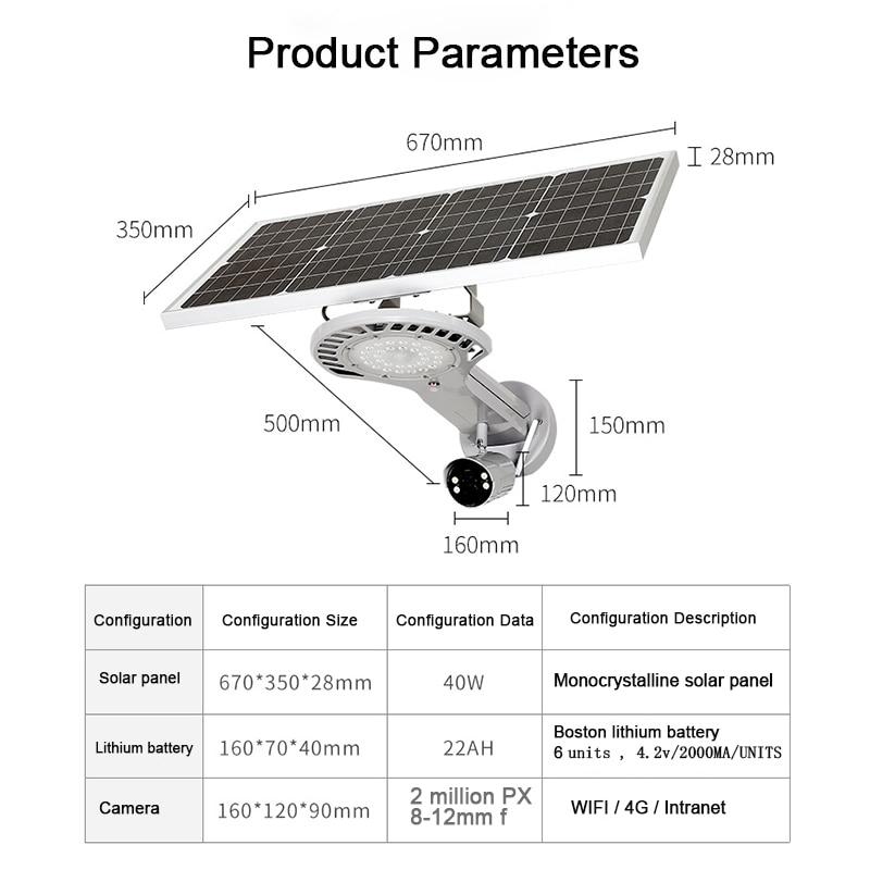 Foco Led 50 W Giardinaggio Decorazione Ha Condotto La Luce Solare Sensore di Luce Solare Della Lampada Esterna Solare con Sensore Ha Condotto La Luce di Sicurezza - 3