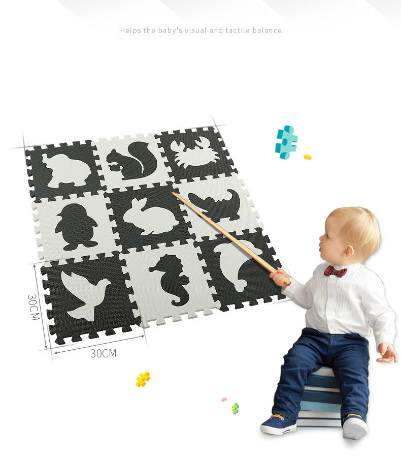 He4827c6b6594416693a238788bc15a23m EVA Foam Play Mat with Fence Baby Puzzle Jigsaw Floor Mats Thick Carpet Pad Toys For Kids Educational Toys Activity Pad