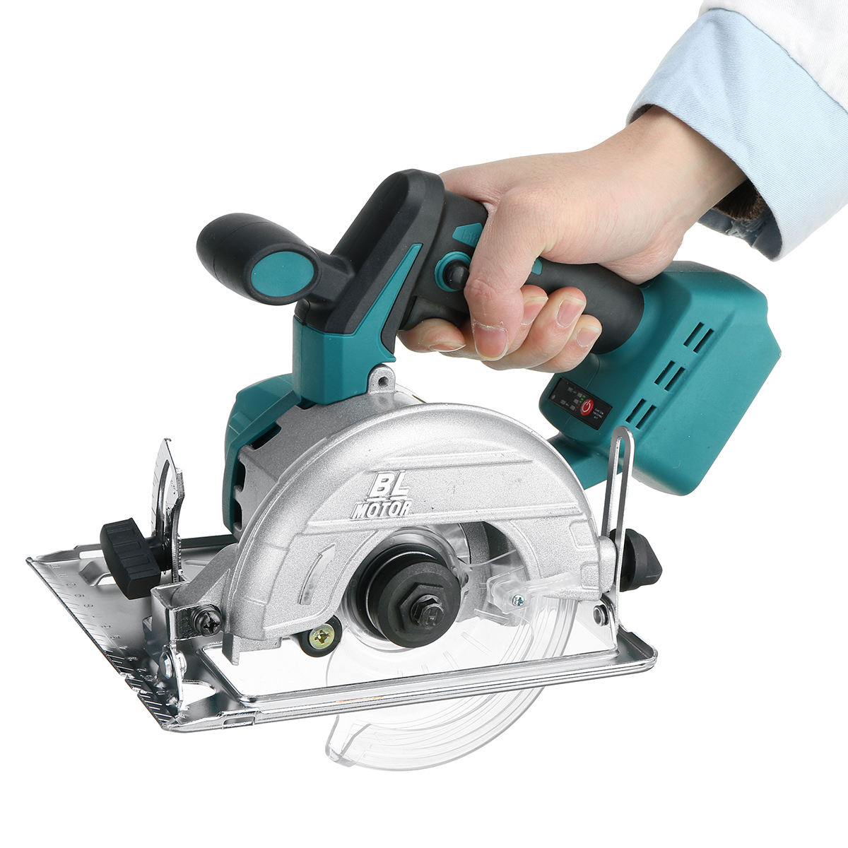 10800RPM 125mm Cordless Electric Circular Wood Cutter 0     to 45     Adjustable Sawing Machine for 18V Makita Battery  Color Randem