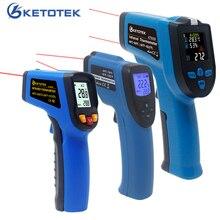Цифровой инфракрасный термометр, одиночный/двойной лазерный Бесконтактный измеритель температуры, пирометр 50 ~ 400/550/750/1100/1300/1600