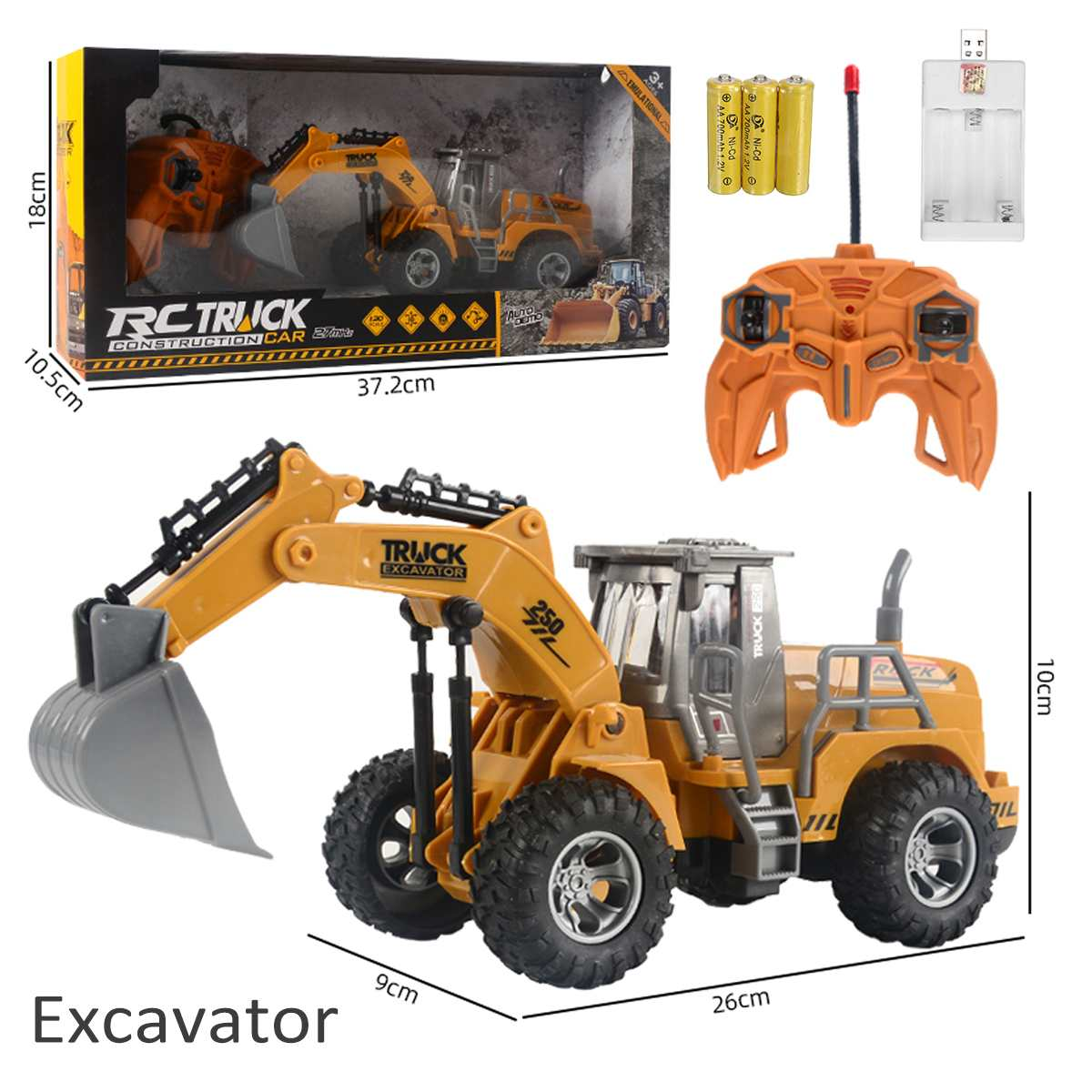 NEW 1:30 Rechargeable RC Excavator toy RC Engineering <font><b>Car</b></font> plastic <font><b>Electronic</b></font> Component Bulldozer For <font><b>kids</b></font> Christmas gift image