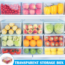 цена на Transparent Storage Box Large Capacity Food Storage Box Plastic Food Egg Fruit Sealed Box DAG-ship