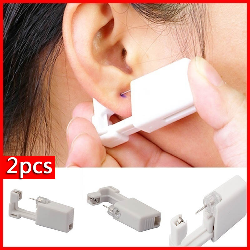 2pcs  Stainless Steel Ear Piercing Gun