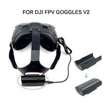 Bandana caso de armazenamento da bateria volta clipe titular para dji fpv combo óculos v2 óculos voadores cabeça cinta bateria acessórios
